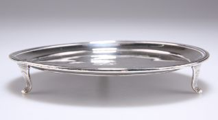 A GEORGE III SMALL SILVER WAITER