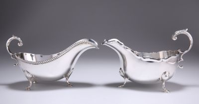 TWO GEORGE V SILVER SAUCE BOATS