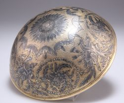 A LATE 18TH CENTURY SILVER-GILT AND NIELLO WORK DRINKING BOWL