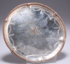 AN OLD SHEFFIELD PLATE WAITER, CIRCA 1775