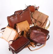 ELEVEN LEATHER MESSENGER AND OTHER HANDBAGS