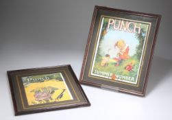 TWO REPRODUCTION PUNCH SUMMER NUMBER PRINTS