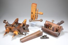 A WOODEN PLOUGH PLANE, by Varvill & Sons, York
