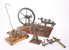 A SET OF EARLY 20TH CENTURY BRASS POSTAL SCALES