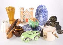 A QUANTITY OF CERAMICS AND OTHER ITEMS