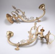 A PAIR OF 19TH CENTURY GOTHIC REVIVAL SINGLE BRANCH WALL LIGHTS