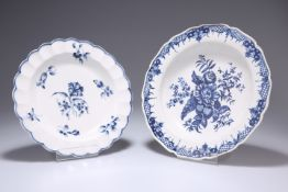 TWO WORCESTER PLATES