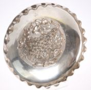 A LATE VICTORIAN SILVER PLATED DISH BY WALKER & HALL