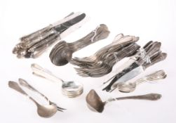 A PART SERVICE OF GERMAN SILVER PLATED CUTLERY