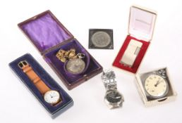 A POCKET WATCH AND CHAIN