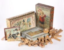 A GROUP OF LATE 19TH CENTURY AND EARLY 20TH CENTURY CHILDREN'S PICTURE BLOCK AND JIG-SAW PUZZLES