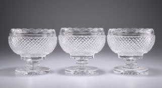 A SET OF THREE WATERFORD GLASS BOWLS