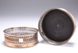 A PAIR OF OLD SHEFFIELD PLATE COASTERS, CIRCA 1790,