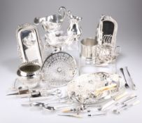 A GROUP OF SILVER AND PLATE