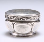 A RUSSIAN SILVER BOX AND COVER