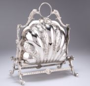 A VICTORIAN SILVER-PLATED MUFFIN DISH