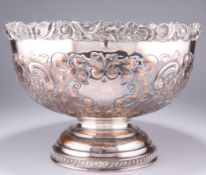 A SILVER-PLATED PUNCH BOWL