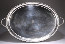 A LARGE OLD SHEFFIELD PLATE TWO-HANDLED TRAY, CIRCA 1790
