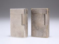 TWO DUPONT SILVER-PLATED LIGHTERS