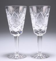 A PAIR OF WATERFORD SHERRY OR PORT GLASSES