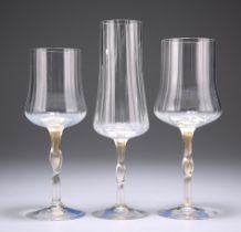THREE CENEDESE PROTOTYPE WINE GLASSES