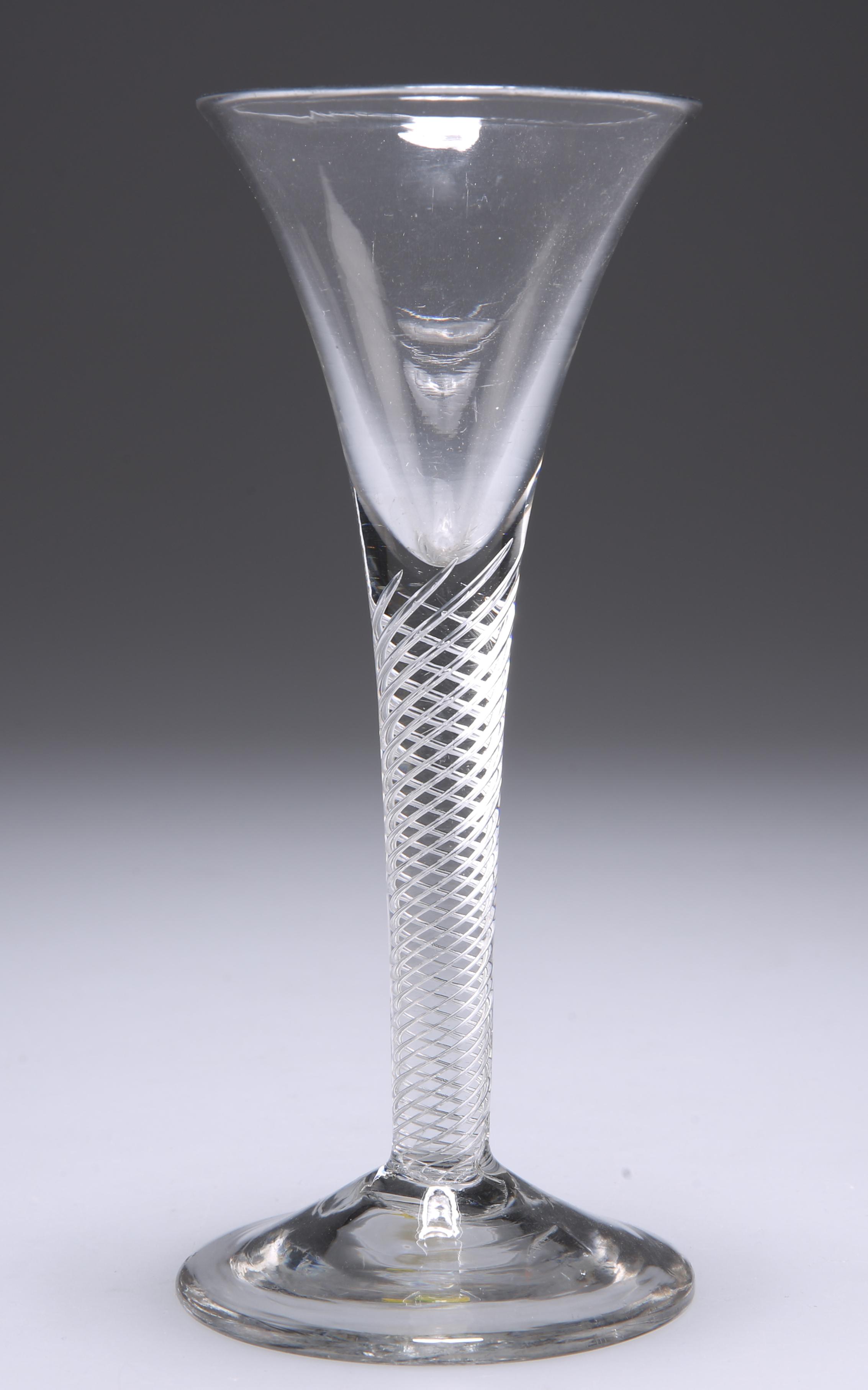 AN AIR TWIST WINE GLASS, CIRCA 1770