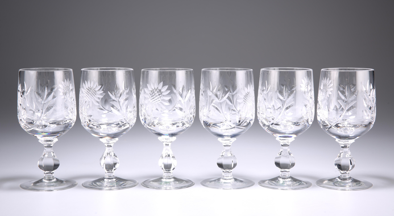 A SET OF SIX CUT-GLASS WINES