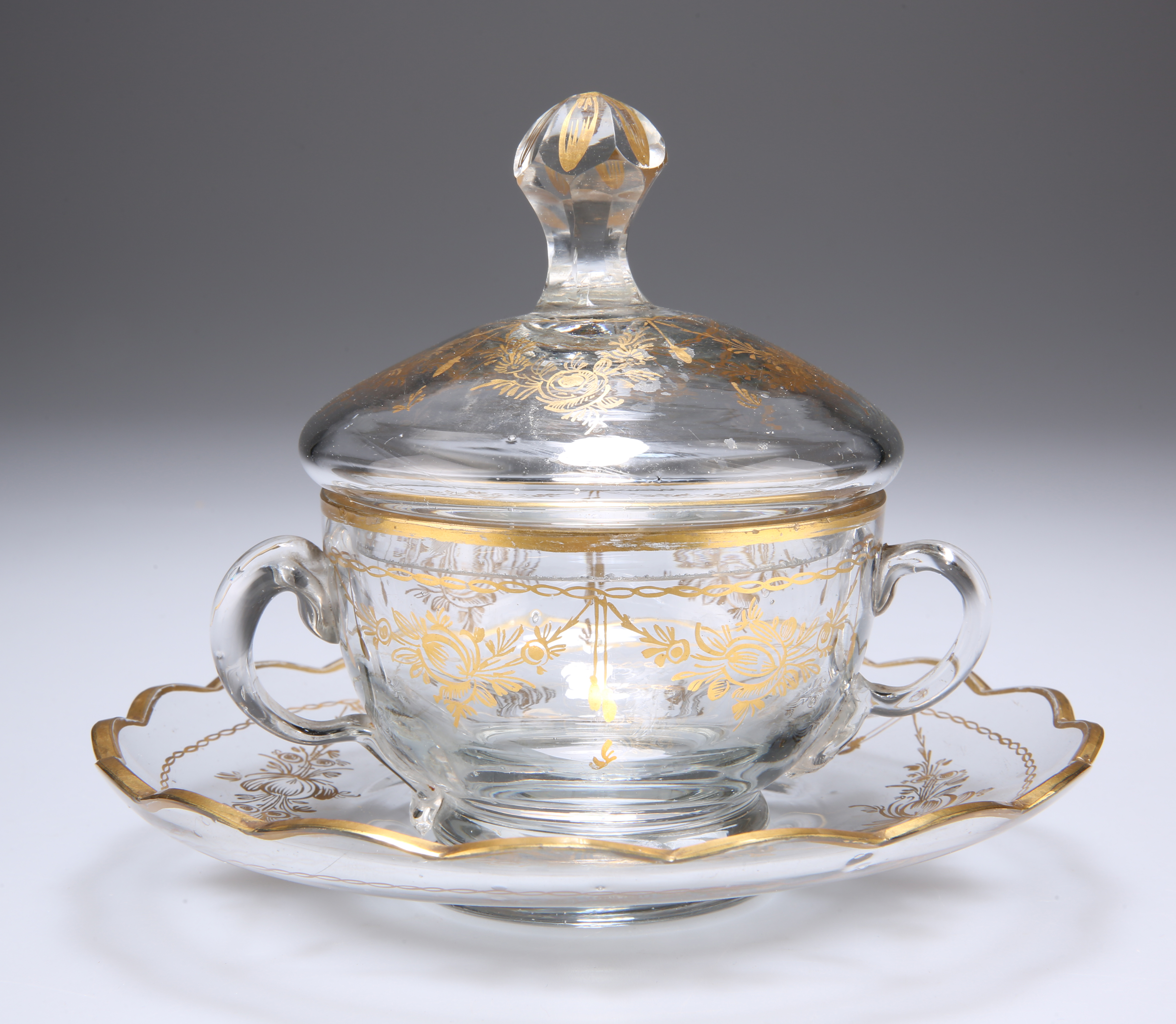 A GILDED CUP, COVER AND SAUCER - Image 2 of 3