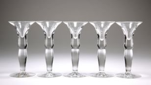 A SET OF FIVE DUTCH WYNAND FOCKINK TASTING GLASSES