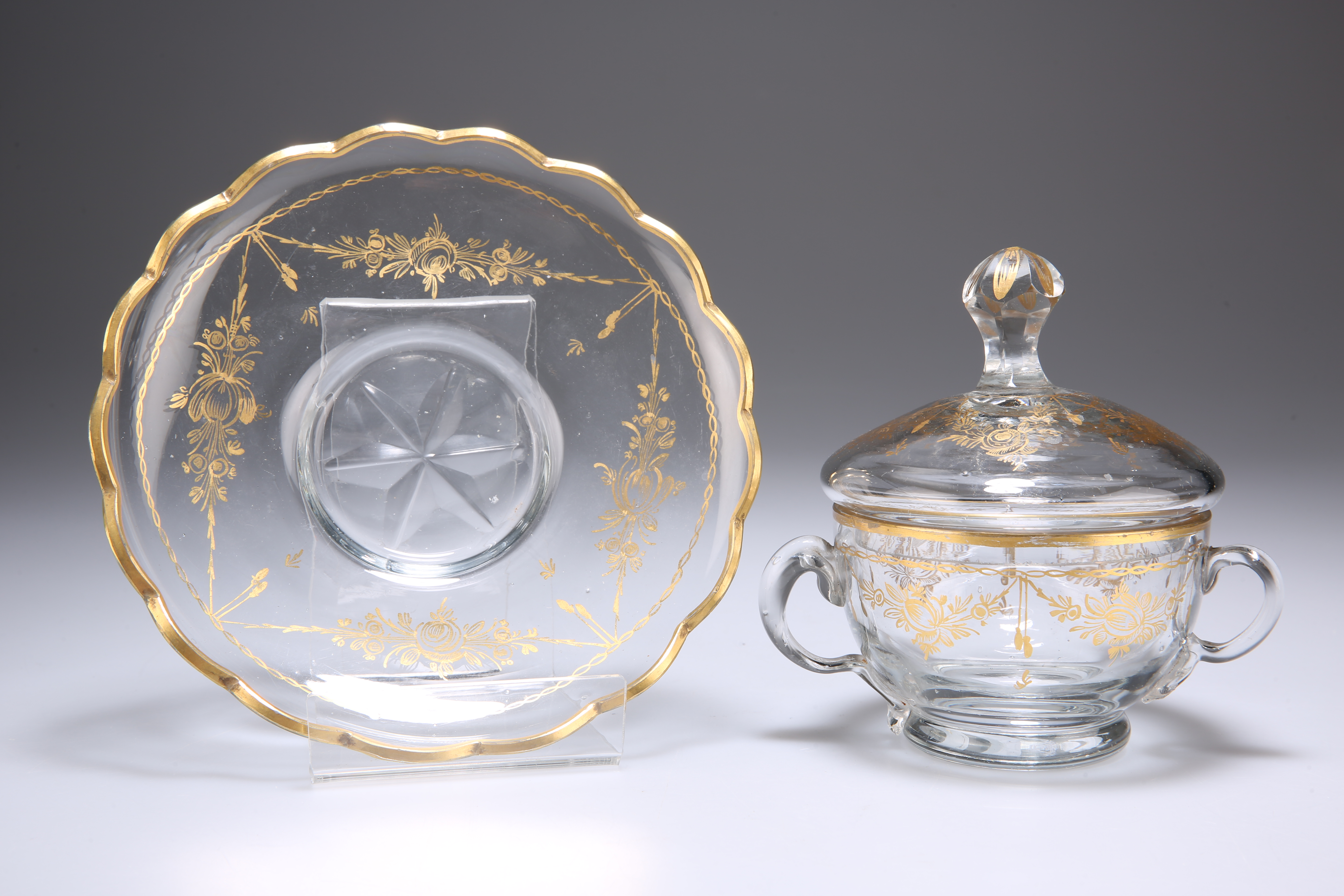 A GILDED CUP, COVER AND SAUCER - Image 3 of 3