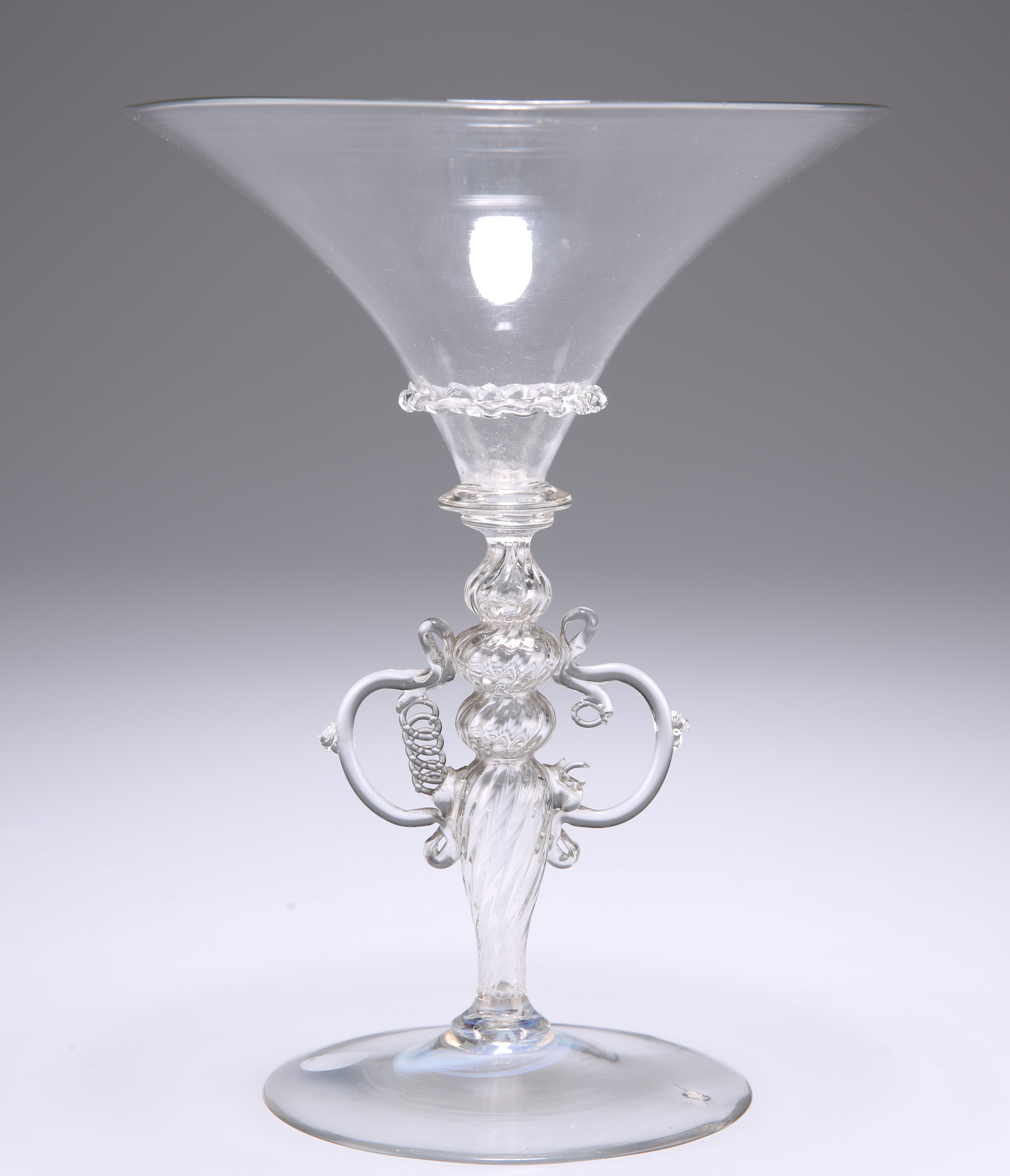 A VENETIAN WINGED WINE GLASS