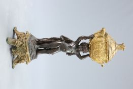 A VERY LARGE FRENCH 19TH CENTURY FIGURAL JARDINIERE