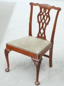 A LATE 19TH CENTURY MAHOGANY CHIPPENDALE STYLE CHAIR
