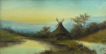 ENGLISH SCHOOL (19TH CENTURY), RIVER LANDSCAPES WITH WINDMILL