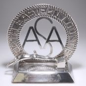 AN ART DECO CHROME PLATED AMATEUR SWIMMING ASSOCIATION NORTH EASTERN CONTESTS TROPHY