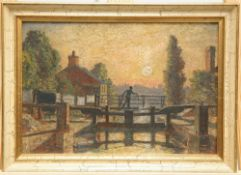 FREDERICK (FRED) CECIL JONES (1891-1966), CANAL LOCK