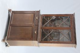 A VICTORIAN CHIPPENDALE REVIVAL MAHOGANY CABINET