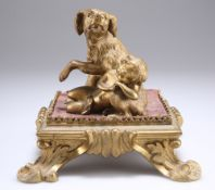 A 19TH CENTURY FRENCH ORMOLU GROUP