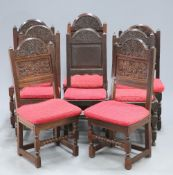 A COLLECTION OF OAK PANEL BACK CHAIRS, LATE 17TH CENTURY AND LATER