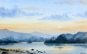 "EMMA RIDOUT (BORN 1977), ""EVENING SUN OVER RYDAL WATER"""