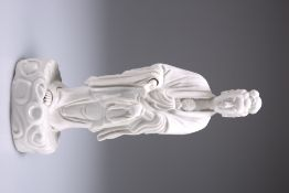 A 19TH CENTURY CHINESE BLANC-DE-CHINE FIGURE OF GUANYIN
