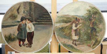 ENGLISH SCHOOL (19TH CENTURY), CHILDREN, A PAIR