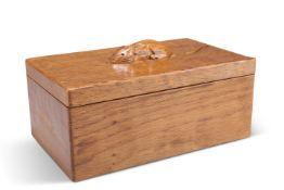 ROBERT THOMPSON, A MOUSEMAN OAK TRINKET BOX