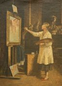 PHYLLIS J. FREEMAN (EXH. 1930), AN ARTIST AT THE EASEL