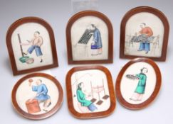 A SET OF SIX 19TH CENTURY CHINESE MINIATURES