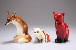 THREE ROYAL DOULTON ANIMAL MODELS