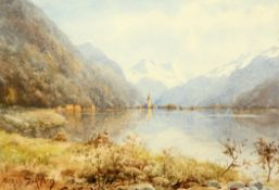 ALFRED DURHAM (BRITISH, EARLY 20TH CENTURY), SWISS LAKE