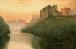 WILLIAM BROWN TURNER (FL. 1920S), RICHMOND CASTLE BY THE SWALE