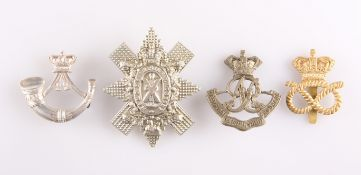 FOUR VICTORIAN PERIOD OTHER RANKS' CAP BADGES