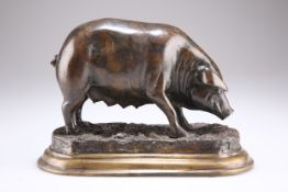 AFTER JULES MOIGNIEZ (1835-1894), A PRIZE SOW